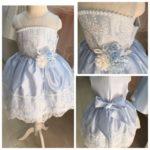 Детское платье с корсетом и пышной юбкой