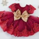 Красное нарядное платье для девочки