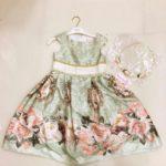 Платье для девочки ретро с цветами